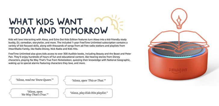 Amazon brings family-focused FreeTime service to Alexa and launches Echo Dot Kids Edition