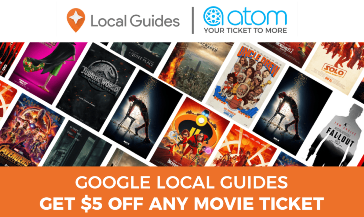 Google Maps Local Guides can get $5 off an Atom movie ticket with new perk