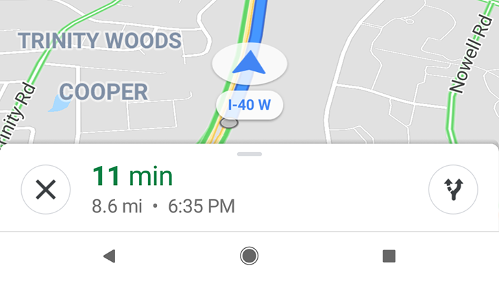 Google Maps testing slightly-rounded navigation UI