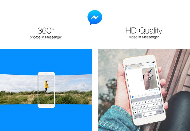 Facebook adds 360-degree photos and HD video to Messenger, publisher information to News Feed