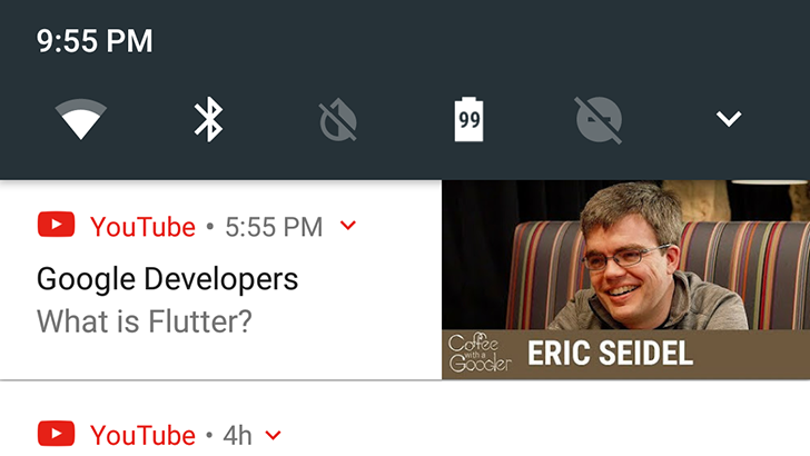 YouTube notifications now include video thumbnails for some