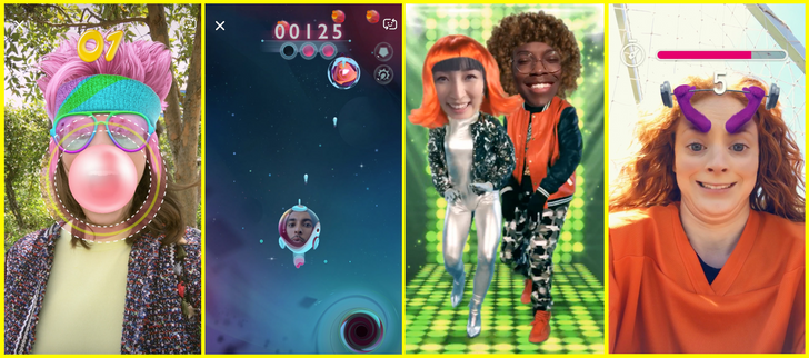 Snapchat introduces 'Snappables' AR selfie games