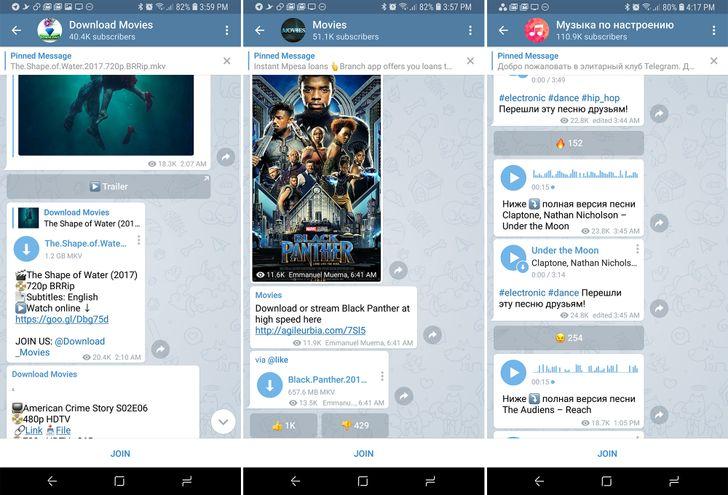 Telegram may be turning a blind eye to rampant piracy