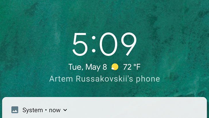 [Update: Working again] Android P shows current weather conditions on the lock screen and in ambient mode