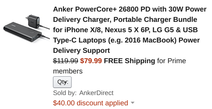 [Deal Alert] Get an Anker PowerCore+ 26,800 mAh USB-PD power bank for $80 ($30 off), 5-port USB-C wall charger for $38 ($16 off)