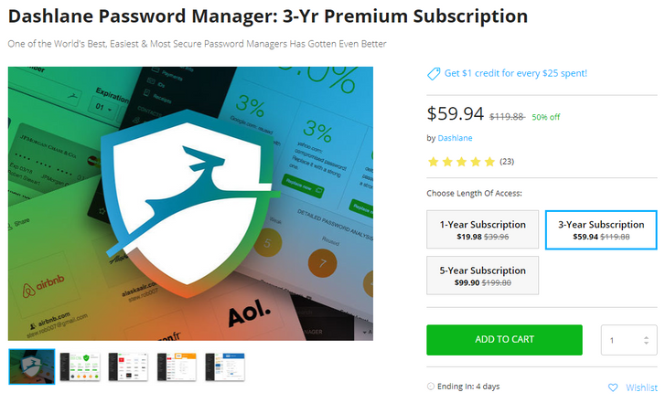 [Deal Alert] Get 50% off a Dashlane password manager premium membership, plus 10% off with coupon