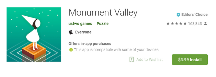 [Freebie Alert] The beautiful Monument Valley is free for the next 7 days