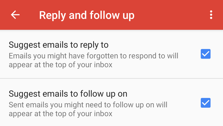 Nudges are now live in Gmail on Android too