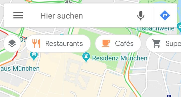 (Update: Rolling out again) Google Maps is testing a floating scrolling bar of category searches