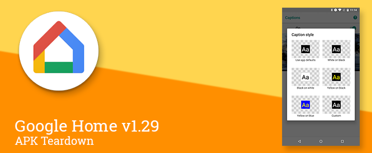Google Home v1.29 prepares remote control for home automation, new Home and Account tabs, and closed caption customizations [APK Teardown]