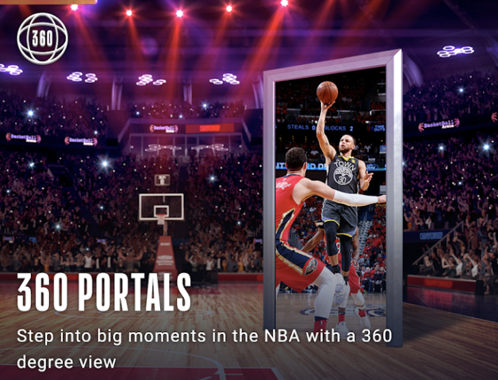 NBA releases AR app on Android along with new 360 Portals feature