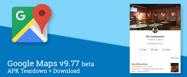 Google Maps v9.77 beta brings an all new look to saved lists, sets up location sharing requests, and more [APK Teardown]