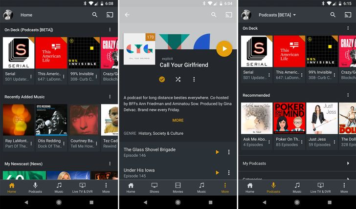 Plex for Android v7.0 adds podcasts, customizable home screen, and more