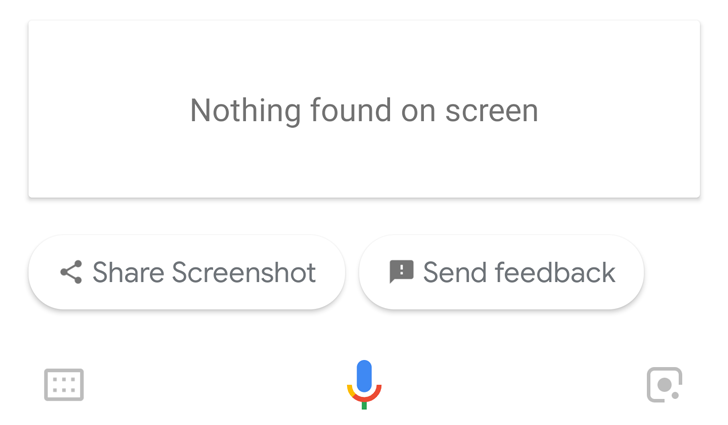 [Update: Possible solution] Google Assistant screen search isn't working for some