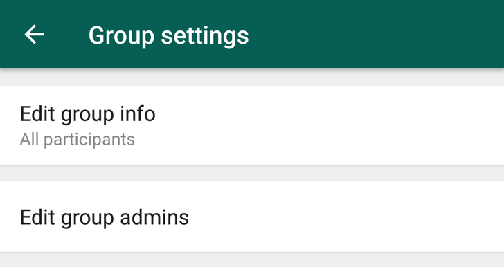 WhatsApp beta 2.18.132 is rolling out group settings and restrictions for admins