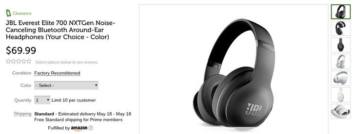 [Deal Alert] Factory refurbished JBL Everest Elite 700 Bluetooth headphones are just $69.99 today on Woot