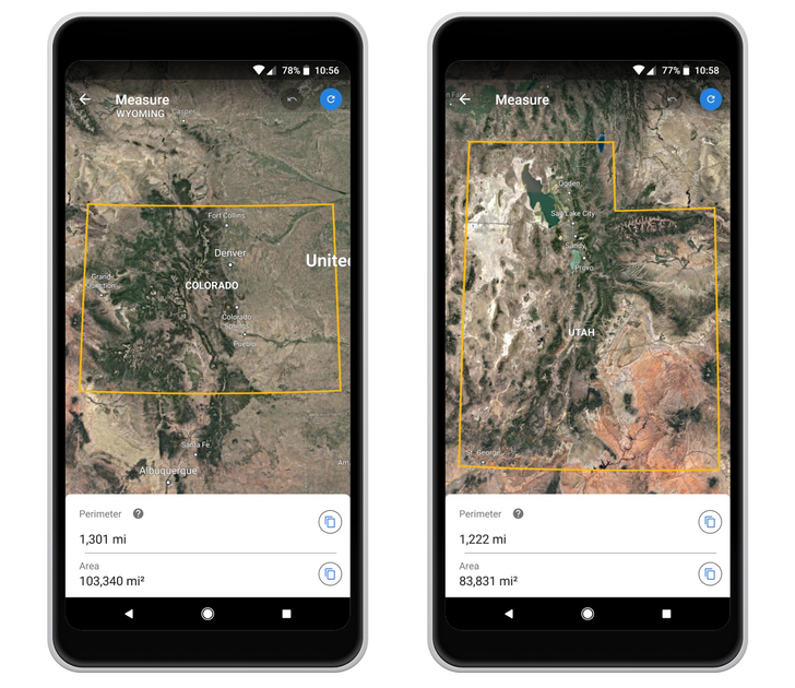 Measurement tools coming to Google Earth on Chrome and Android