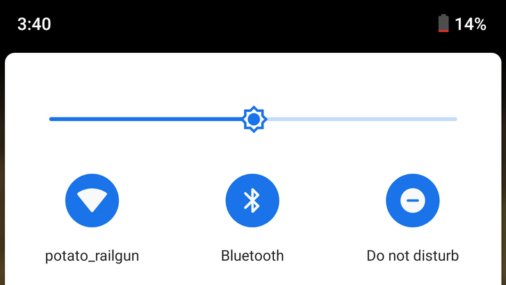 Improved logarithmic brightness slider introduced in Android P DP3