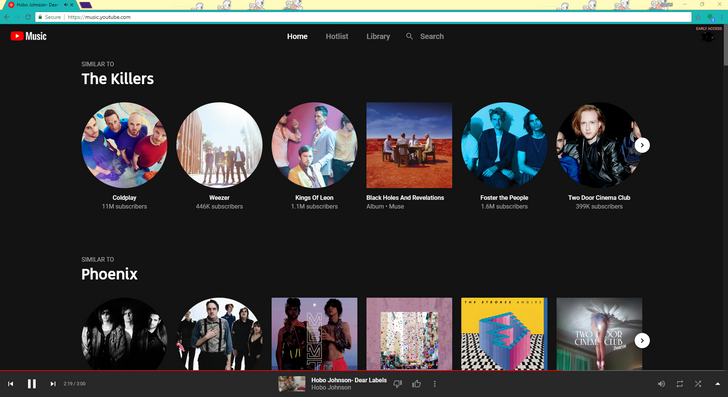 YouTube Music's web player is going live for more people