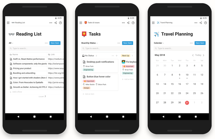 Notion's do-it-all productivity app arrives on Android