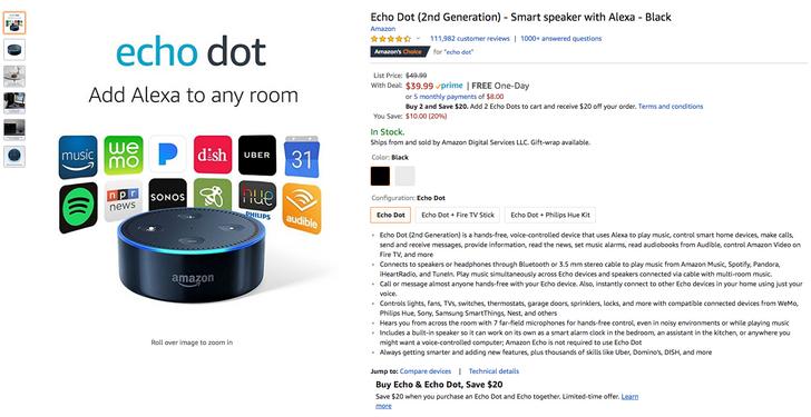 [Deal Alert] Get 2 Amazon Echo Dot 2nd gen speakers for just $60 ($40 off)