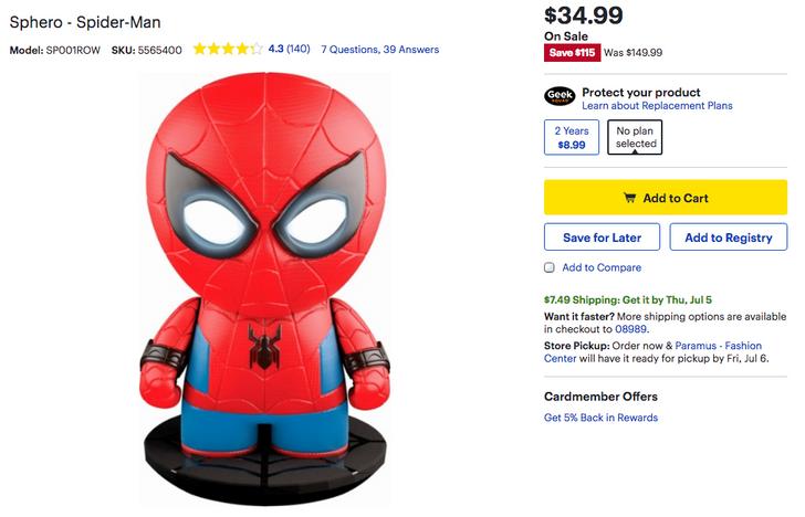 [Deal Alert] Sphero Spider-Man down to $35 ($115 off) at Best Buy