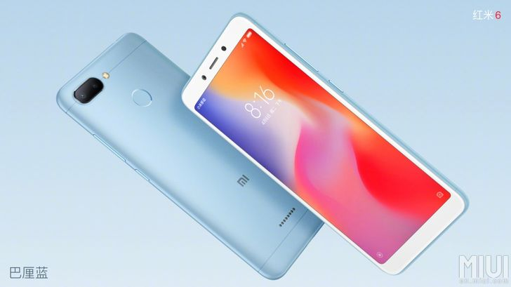 "Xiaomi Redmi 6/6A official with 5.45"" display and dual cameras, starts at ~$94"