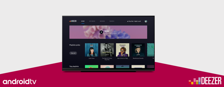 Deezer releases a native app for Android TV
