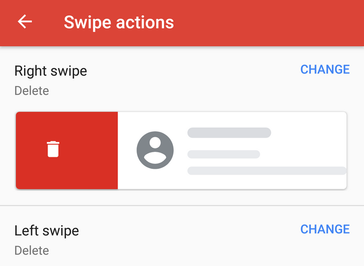 Gmail 8.5.20 adds customizable swipe to left and right actions