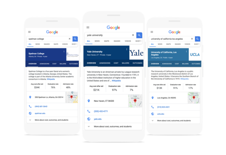 Google Search can help you decide on which college to attend