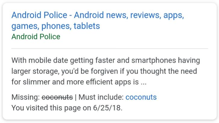 New shortcut in Google search allows you to refine results with specific terms
