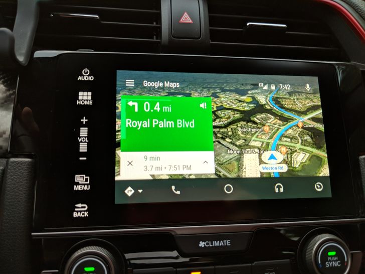 Satellite view added to Google Maps on Android Auto head units