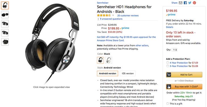 [Deal Alert] Sennheiser HD1 headphones down to $200 on Amazon