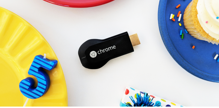 Google's Chromecast is five years old today [Update: Chromecast history from Google]