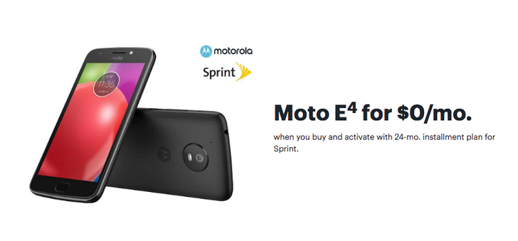 [Deal Alert] Moto E4 is free ($145 off) on Sprint at Best Buy for today and tomorrow only