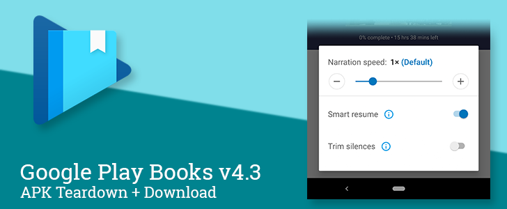 Google Play Books v4.3 adds Trim Silences option to the audiobook player [APK Download]