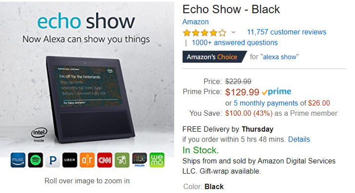 [Deal Alert] Amazon Echo Show down to all-time low of $130 ($100 off)
