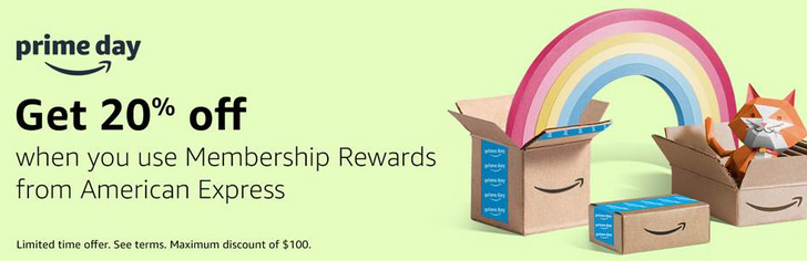 Get 20% off up to $100 on Amazon when you buy with AMEX Membership Rewards