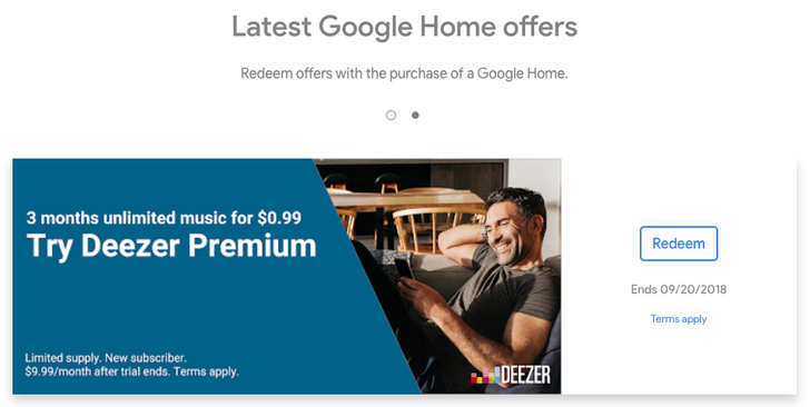 Deezer Premium comes to Google Home in the US, Australia, Canada, and Italy — US Home and Chromecast owners get 3 months for $0.99 offer