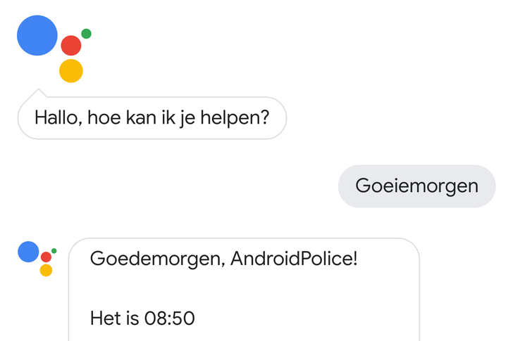 Google Assistant is now available in Dutch