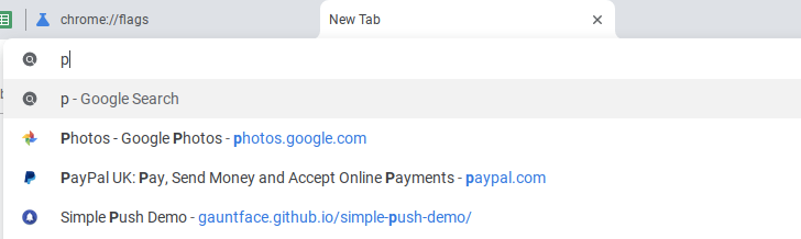 Chrome's omnibox search results are getting favicons for bookmarked pages