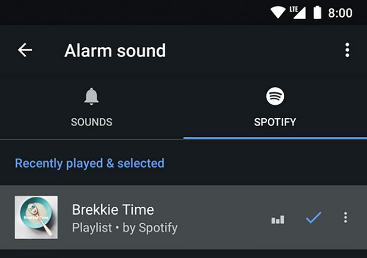 [Update: Live, APK Download] Google Clock app now supports Spotify for alarms