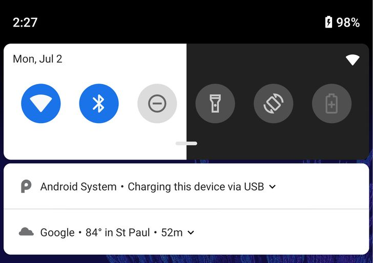Manual toggle for dark and light launcher themes debuts in Android P DP4