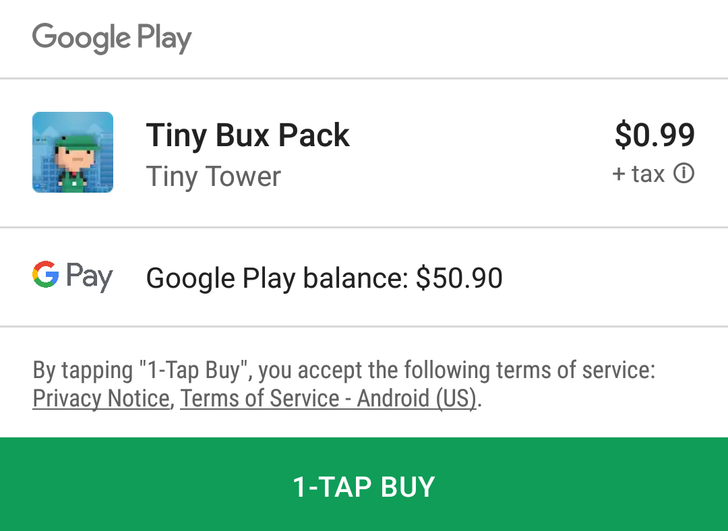 Google makes in-app purchases easier on the eyes with new interface