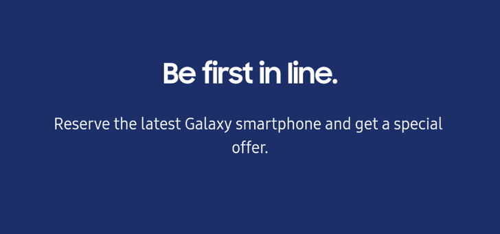 [Update: Image leaked] Samsung will let you reserve the Galaxy Note9 without ever actually saying anything about the phone
