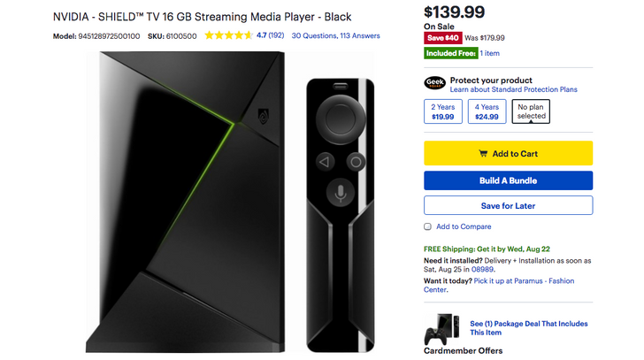 [Deal Alert] NVIDIA SHIELD Android TV down to $140 ($40 off) from Best Buy