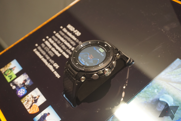 Casio's new Pro Trek Wear OS watch is a little less chunky but just as tough
