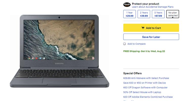 [Deal Alert] Samsung Chromebook 3 is $130 from Best Buy
