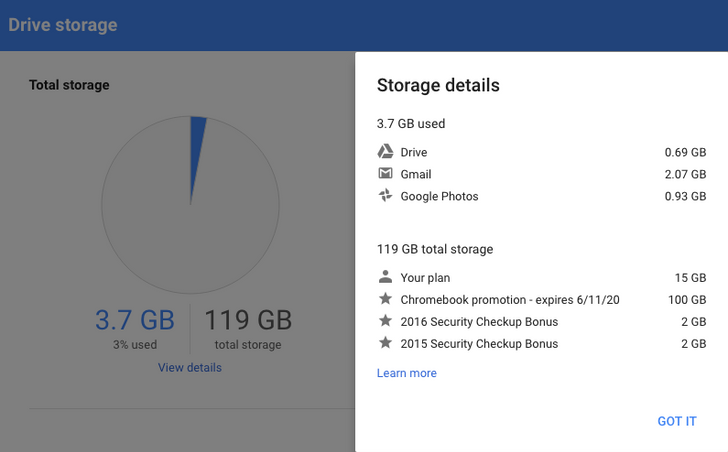 Google One hasn't rolled out to users with promotional Drive storage (and other cases)