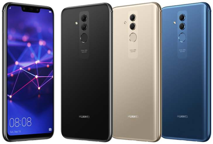Huawei Mate 20 Lite leaks with a notch and four cameras